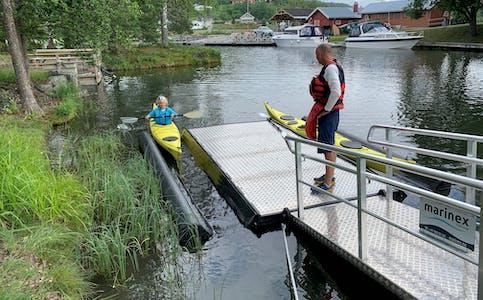 Nytt tilbud for padlere: Plasseringen av den nye rampa er ikke tilfeldig.