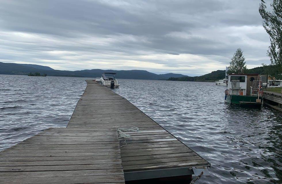 Slik ser det ut i dag: Her blir det ikke gjort noe før til neste båtsesong.