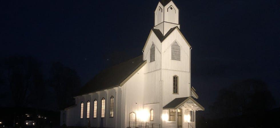 Dette bildet er fra en prøvelyssetting. Bildene i serien illustrerer hvor punktene med lys skal plasseres.