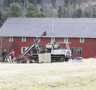 Bilde fra Ree Minerals boring på Fen i 2012.